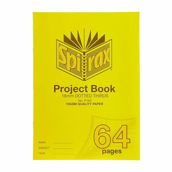 Spirax P162 Project Book 330x240 18mm Dt 64page X CARTON of 10 56162P