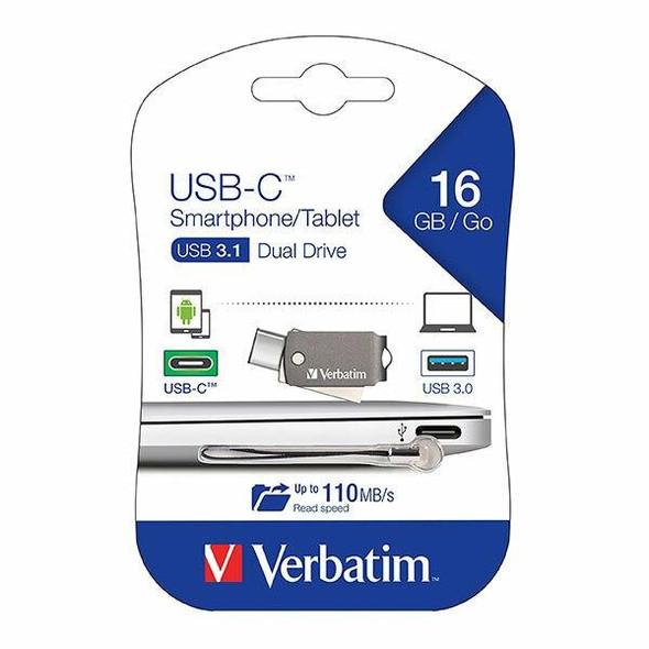 Verbatim On The Go Usb-C 3.1 Drive 16gb 65743
