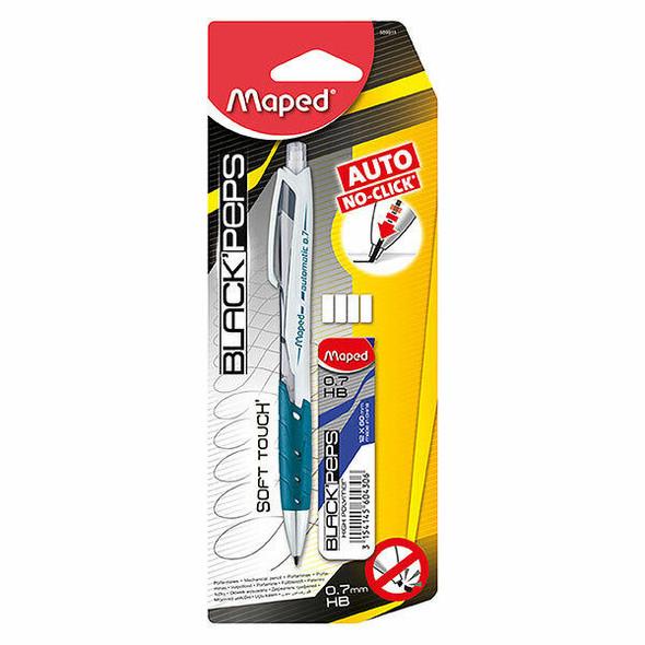 Maped Black Peps Auto Mechanical Pencil Set 0.7mm X CARTON of 12 8559911