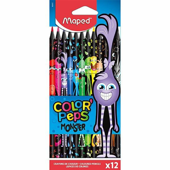 Maped Monster Colour Pencils Pack 12 Assorted X CARTON of 12 8862612