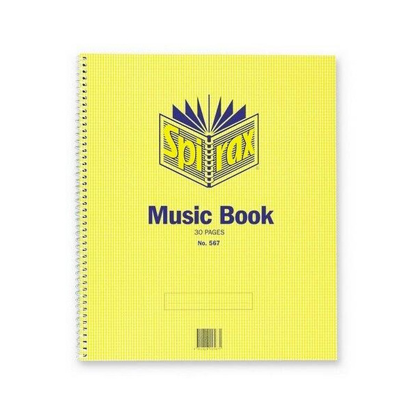 Spirax 567 Music Book 297x248mm 15 Leaf/ 30 Page X CARTON of 20 56225