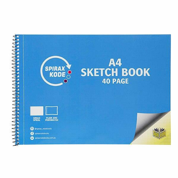 Spirax Kode 964 A4 Sketchbook 40page X CARTON of 10 56964C