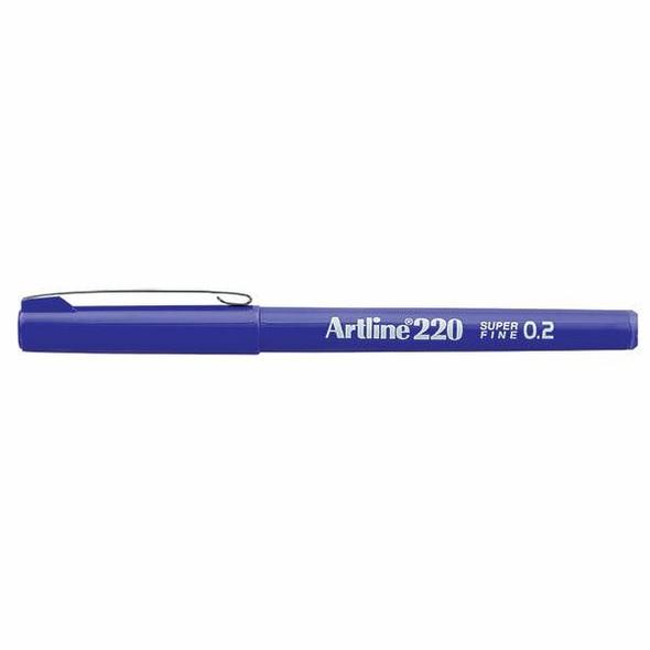 Artline 220 Fineliner Pen 0.2mm Purple BOX12 122006