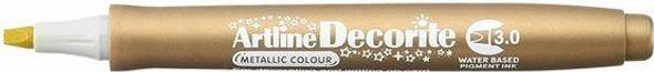 Artline Decorite Metallic 3.0 Gold X CARTON of 12 140331
