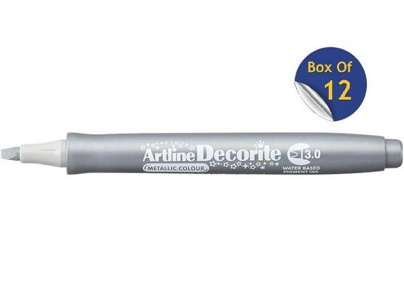 Artline Decorite Metallic 3.0 Silver BOX12 140332