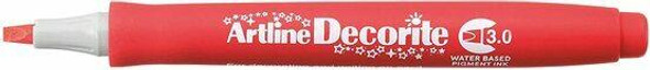 Artline Decorite Standard 3.0 Red X CARTON of 12 140302