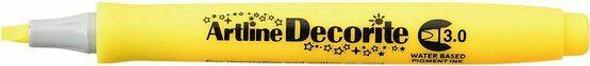 Artline Decorite Standard 3.0 Yellow BOX12 140307