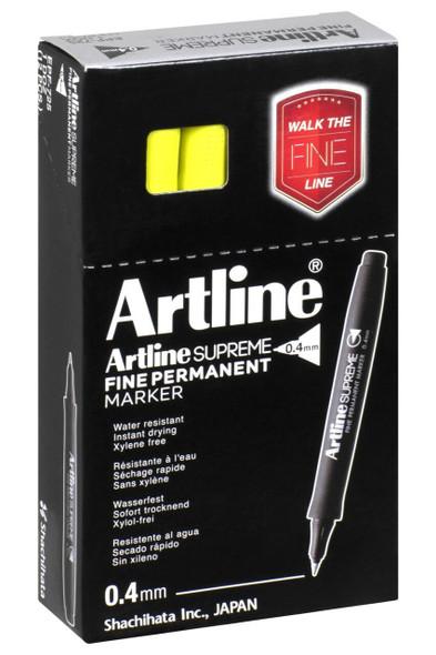 Artline Supreme Prm Marker 0.4mm Bluish Yellow BOX12 107137