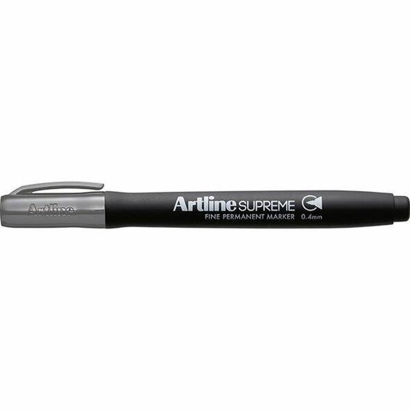 Artline Supreme Prm Marker 0.4mm Grey BOX12 107411
