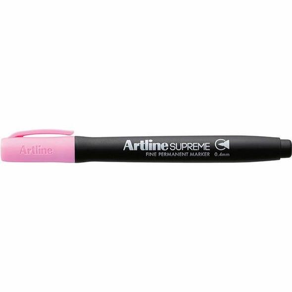 Artline Supreme Prm Marker 0.4mm Pastel Pink BOX12 107436
