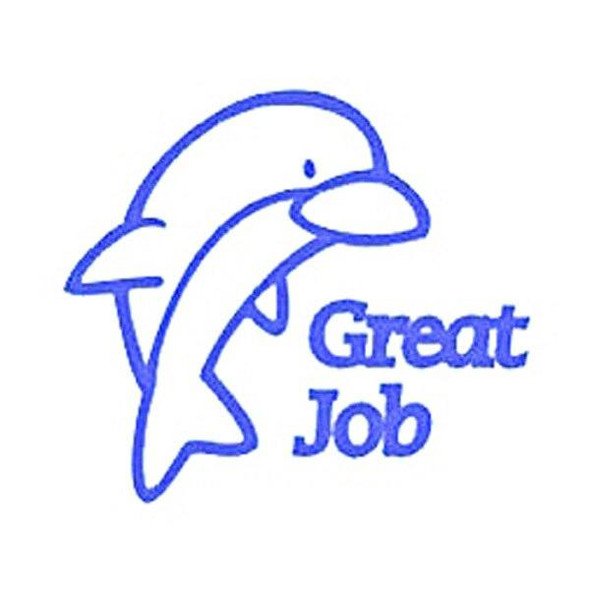 Deskmate Pre-Inked Merit Stamp Great Job Violet 0284830
