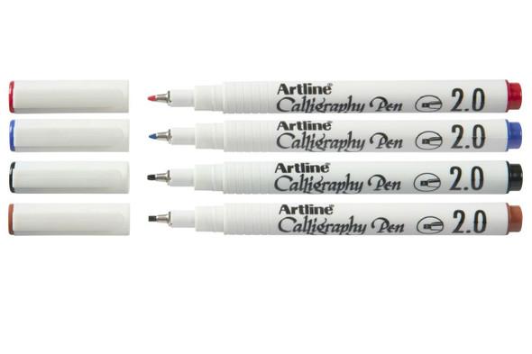 Artline Calligraphy Assorted Pack 4 X CARTON of 12 124274