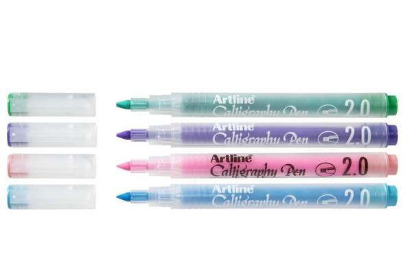 Artline Calligraphy Pastel Assorted Pack 4 X CARTON of 12 125374