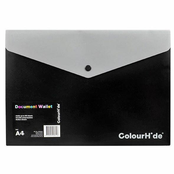 Colourhide Doc Wallet Pp W/ Button X CARTON of 10 1002402J