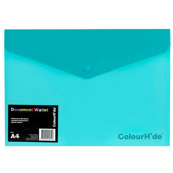 Colourhide Doc Wallet Pp W/ Button X CARTON of 10 1002432J