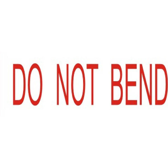 Deskmate Pre-Inked Office Stamp Do Not Bend Red 0317260