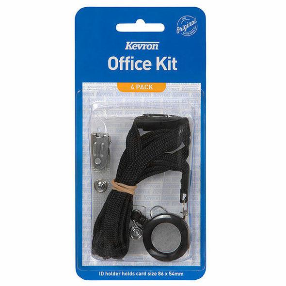 Kevron Office Kit Black 4 Pcs X CARTON of 240 47043BLK