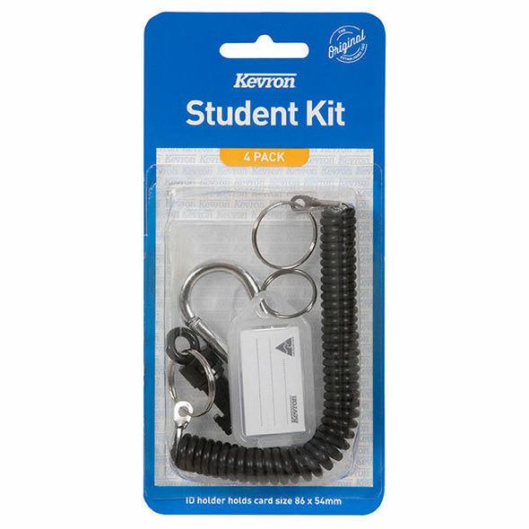 Kevron Student Kit Black 4 Pcs X CARTON of 10 47042BLK
