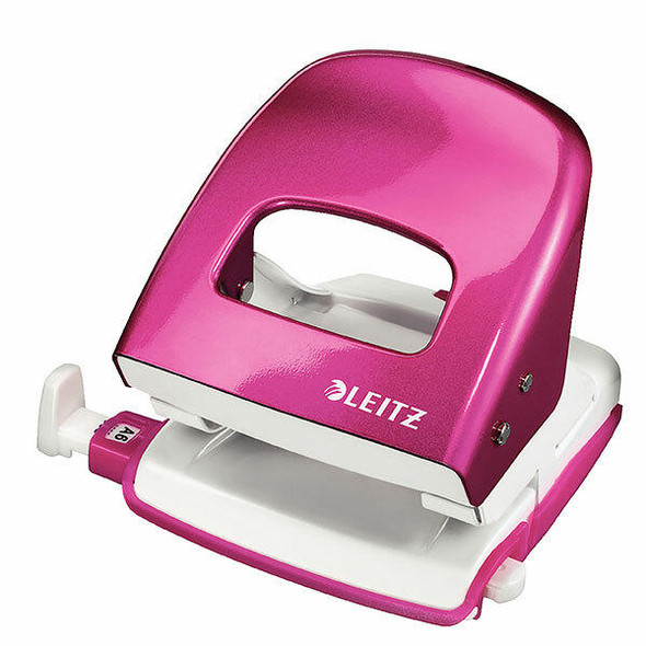 LEITZ Nexxt Wow Punch 2 Hole 30sht Pink Boxed 50081023