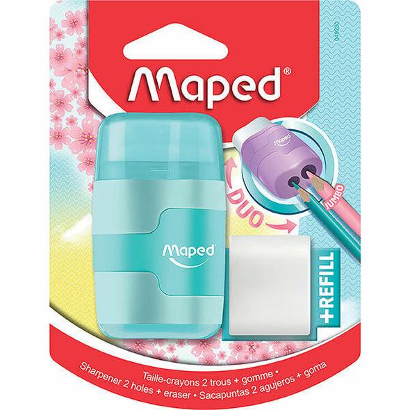 Maped Connect Sharpener/Eraser Pastel X CARTON of 6 8049230