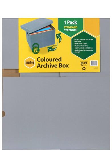 Marbig Archive Box Grey X CARTON of 10 8018111