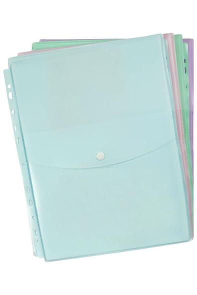 Marbig Binder Wallet A4 Top Open Pastel Assorted X CARTON of 8 2025898