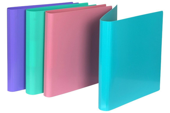 Marbig A4 Pp Ring Binder 2d 25mm Assorted X CARTON of 6 5446598