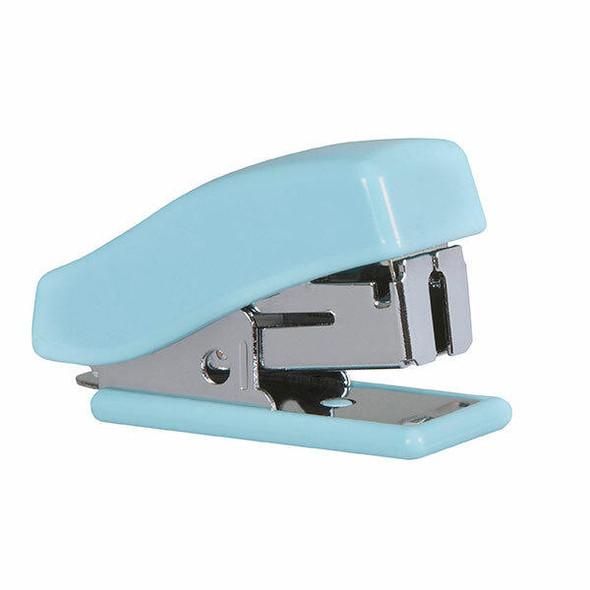 Marbig Mini Stapler W/Staples Pastel Blue X CARTON of 12 975428PABE