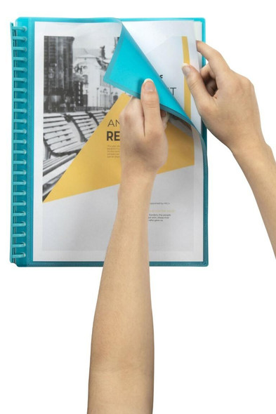 Marbig Refillable Display Book 20 Pocket Insert Cover Blue X CARTON of 12 2008601