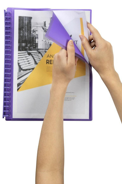 Marbig Refillable Display Book 20 Pocket Insert Cover Purple X CARTON of 12 2008619