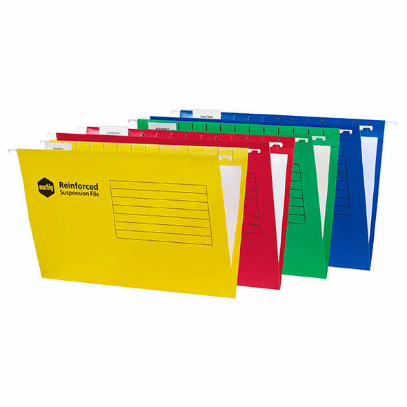 Marbig Reinforced Suspension File Complete Assorted Box25 X CARTON of 5 8100299