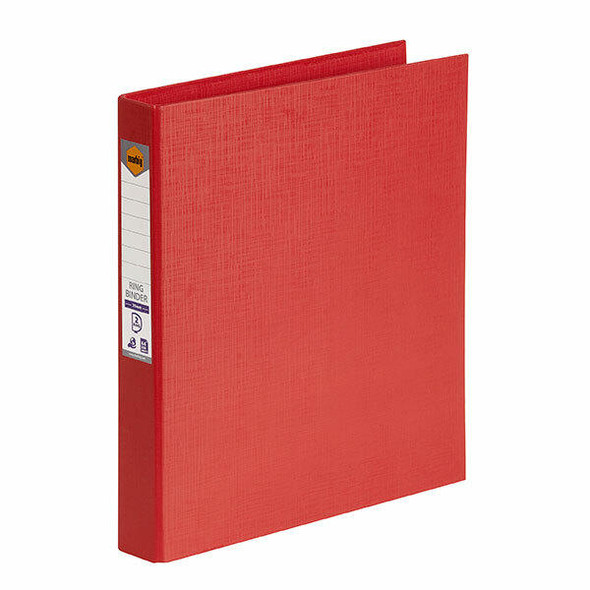 Marbig Ring Binder A4 25mm 2d Pe Red X CARTON of 6 5022103