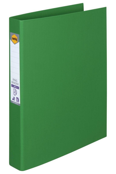 Marbig Ring Binder A4 25mm 4d Pe Green X CARTON of 6 5024104