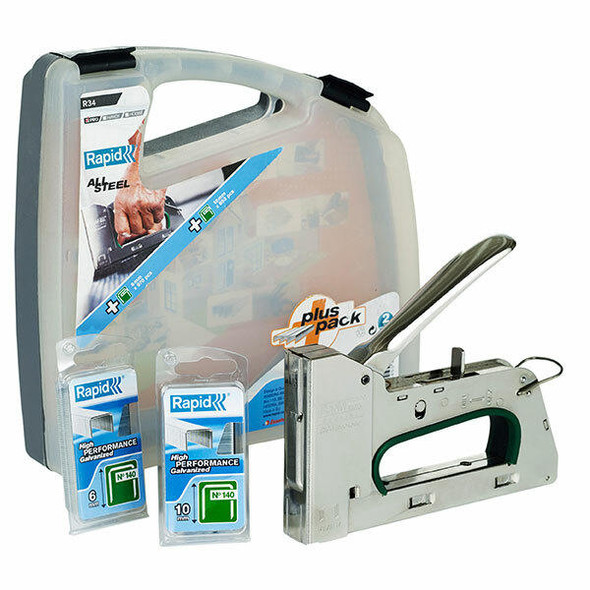Rapid Tools Tacker R34e Steel Case Promo Pack 0397072