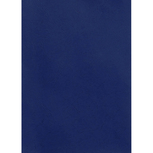 Rexel Leathergrain Covers 250 Gsm Navy Pack 100 50334