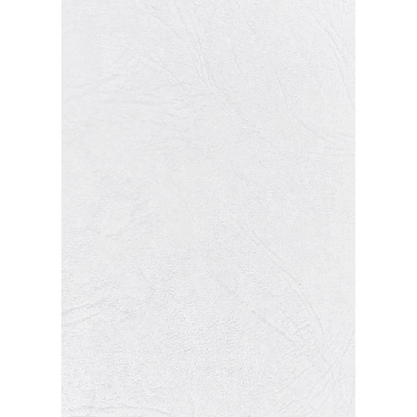 Rexel Leathergrain Covers 250 Gsm White Pack 100 50335