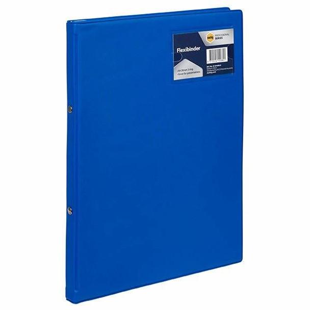 Marbig Flexibinder A4 20mm Blue Royal X CARTON of 18 013949ROY