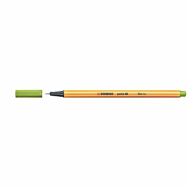 STABILO Point 88 Fineliner Apple Green BOX10 0350570