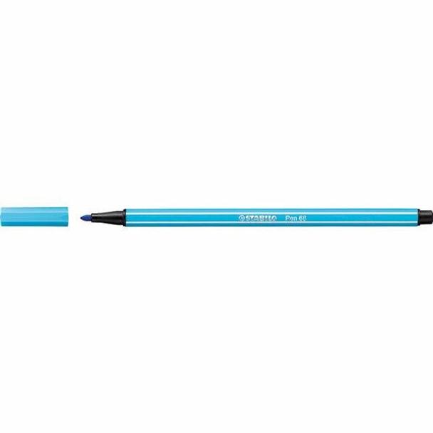 STABILO Pen 68 Fibre Tip Azure BOX10 0350980