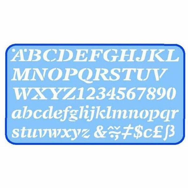 Helix Lettering Stencil 20mm Italic 0352670