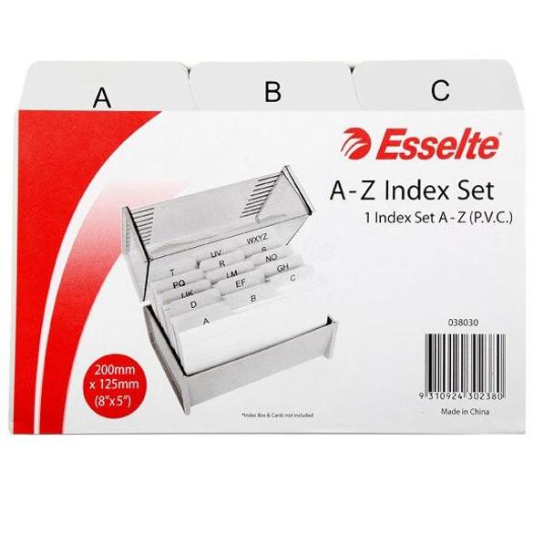 Esselte Indices A-Z Pvc 203x127mm 8x5 Grey 038030