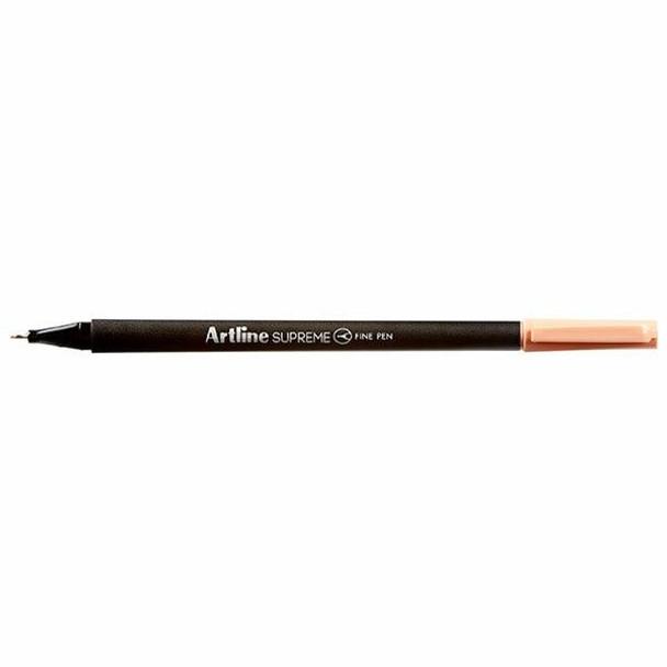Artline Supreme Fineliner Pen 0.4mm Apricot BOX12 102128