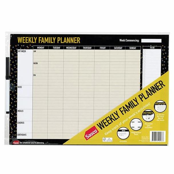 Sasco Planner Weekly Undated X CARTON of 10 10671