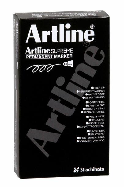 Artline Supreme Permanent Marker Pastel Pink BOX12 107136