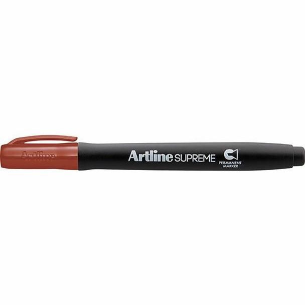 Artline Supreme Permanent Marker Chisel Brown BOX12 109112