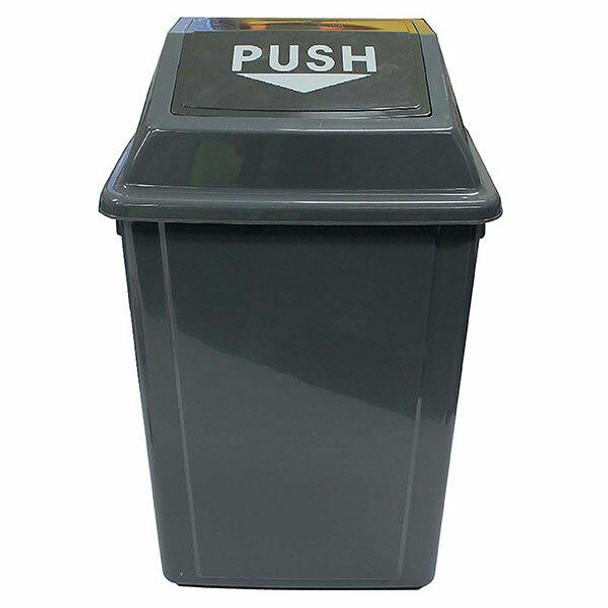 Cleanlink Rubbish Bin With Bullet Lid 25 Litre Grey 12054