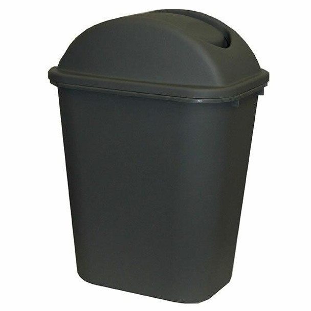 Cleanlink Dustbin With Lid 36 Litre Grey 12071