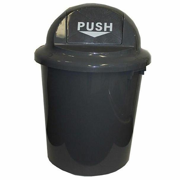Cleanlink Rubbish Bin Circular With Bullet Lid 60 Litre Grey 12076