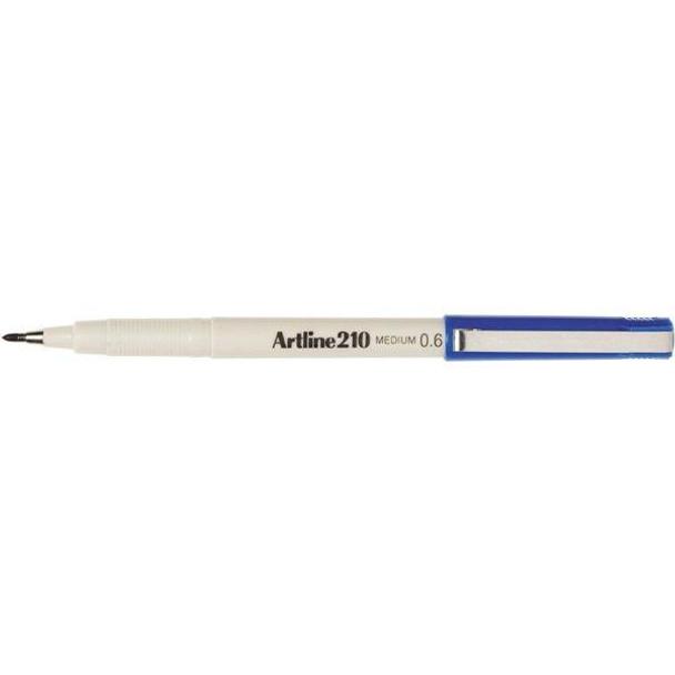 Artline 210 Fineliner Pen 0.6mm Blue BOX12 121003