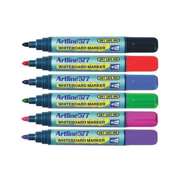 Artline 577 Whiteboard Marker Wallet6 Hangsell 157746HS